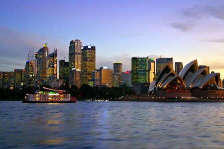 A view of Sydney's skyline and Sydney Harbour Stock Photo - 1357396