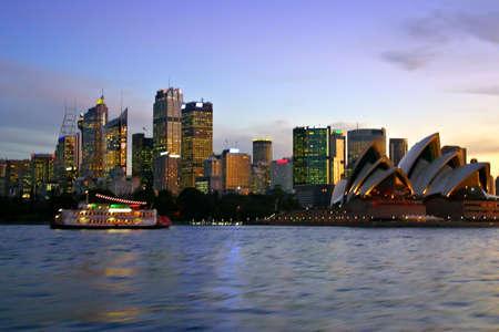 sydney: A view of Sydneys skyline and Sydney Harbour Stock Photo