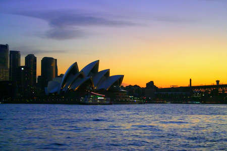 A view of Sydney's skyline and Sydney Harbour Stock Photo - 1357454