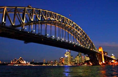 Une vue du ciel de Sydney et du port de Sydney