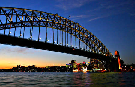 Une vue de lhorizon de Sydney et Sydney h�bergent Banque d'images