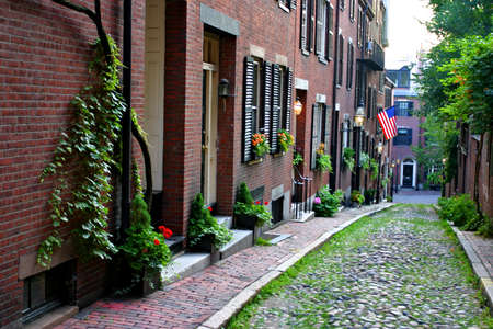Beacon Hill is a wealthy neighborhood of Federal-style rowhouses, with some of the highest property values in the United Statesrn photo