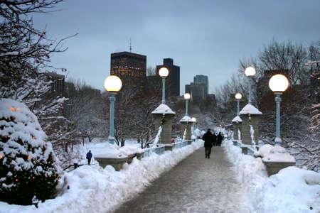 Snowy winter at Boston, Massachusetts, USA Stock Photo - 2318850