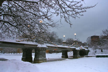 Snowy winter at Boston, Massachusetts, USA   photo