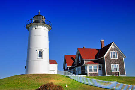 coastguard: Nobska Lighthouse at Woodholes, Massachusetts, USA
