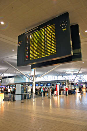 Interior archietcture of Brisbane International Airport, Australia
