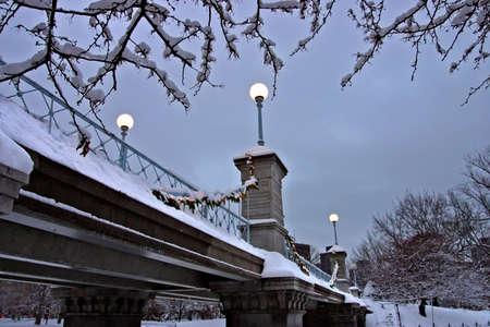 Snowy winter at Boston, Massachusetts, USArn photo