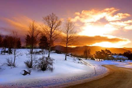 Winter at Bretton Woods, New Hampshire   Stock Photo