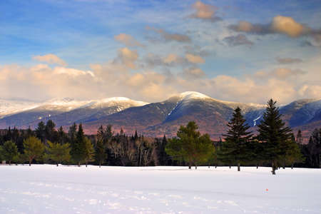 washington landscape: Winter at Bretton Woods, New Hampshire   Stock Photo