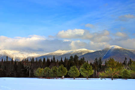 Winter at Bretton Woods, New Hampshire   Stock Photo