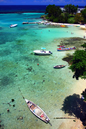 Ocho R�os is a town on the northern coast of Jamaica, located in the parish of Saint Ann. It is a popular tourist destination, well known for scuba diving and other water sports Stock Photo - 3419293