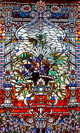 Stock image of colorful stined glass windowrn