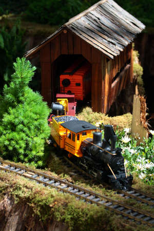 Stock image of miniature locomotive   photo