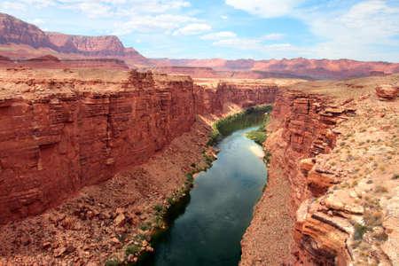 southwest usa: Colorado River flows through the Grand Canyon   Stock Photo
