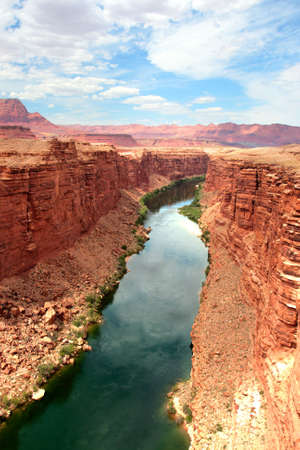 national scenic trail: Colorado River flows through the Grand Canyon   Stock Photo