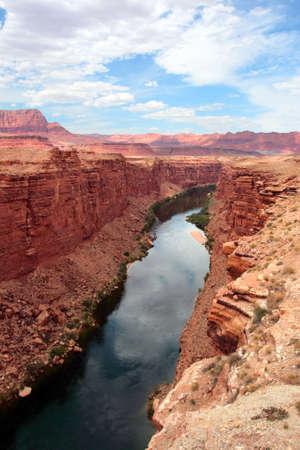Colorado River flows through the Grand Canyon   photo