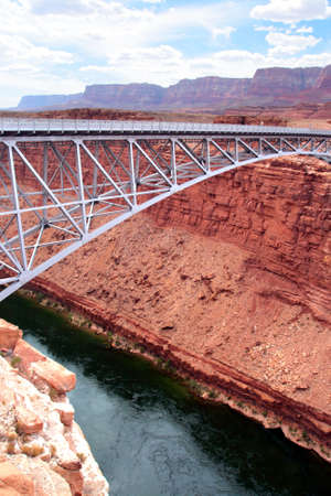 Navajo Bridge crosses the Colorado Rivers Marble Canyon near Lees Ferry in the U.S. state of Arizona   photo