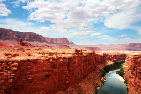 Colorado River flows through the Grand Canyon   photo