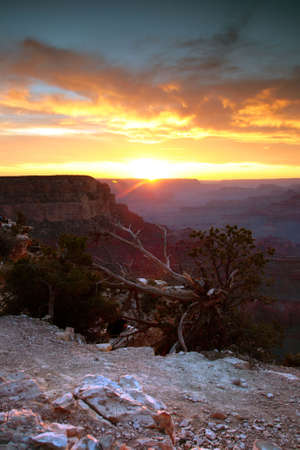Sunset at Grand Canyon National Park, USA   photo