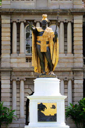 Statue of King Kamehameha, Honolulu, Hawaii   photo