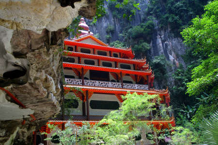 Sam Poh Tong is the most famous and developed cave temple in Malaysia   Stock Photo