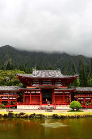 Byodo-In Temple, Oaho, Hawaii photo
