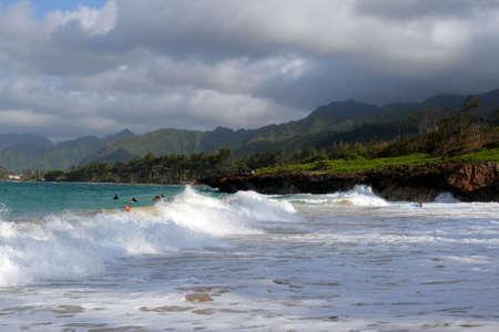 shorebreak: Oahu, Hawaii   Stock Photo