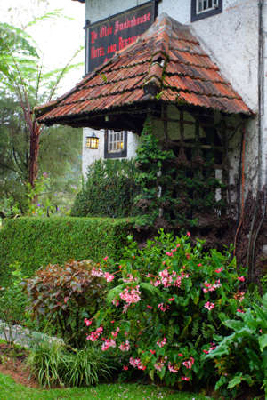 A traditional English cottage   photo