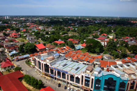 kelantan: Skyline of Kota Bharu, Kelantan, Malaysia   Stock Photo