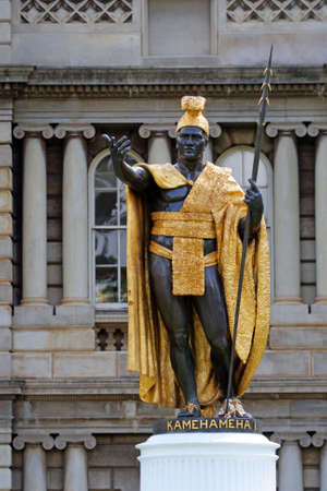 Statue of King Kamehameha, Honolulu, Hawaii  Standard-Bild