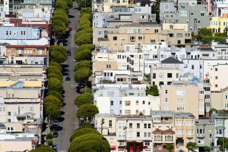 Urban scene of San Francisco, California, USA   photo