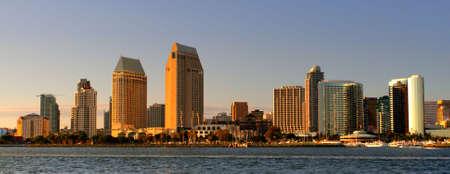 Stock image du front de mer de San Diego et skyline