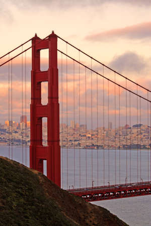 The Golden Gate Bridge of San Francisco, California, USA  Standard-Bild