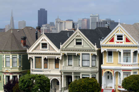 Alamo Square is a residential neighborhood and park in San Francisco, California. Stock Photo - 6350053