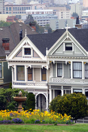 Alamo Square is a residential neighborhood and park in San Francisco, California.   photo
