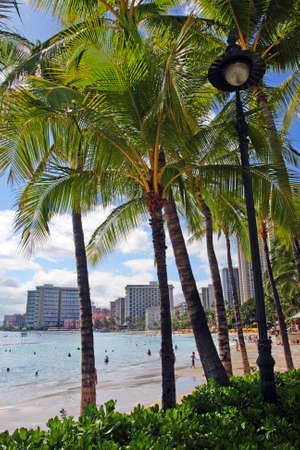 Stock image of Waikiki Beach, Honolulu, Oahu, Hawaii   photo