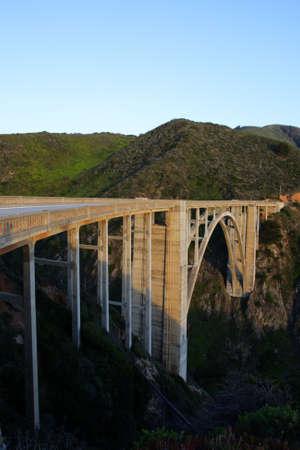 bixby: Stock image of Bixby Bridge, Big Sur, california, USA