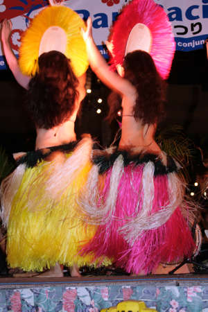 polynesian: Stock image of polynesia culture, dance, festival and arts