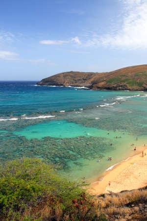 Stock image of Hanauma Bay, Oahu, Hawaii   photo