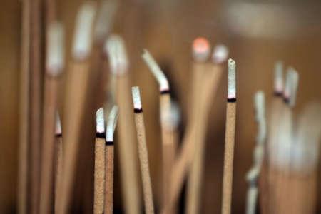 incienso: Burning Stick de incienso  Foto de archivo