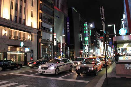 tokyo japan: Ginza Yon-Chome crossing, Tokyo, Japan   Editorial