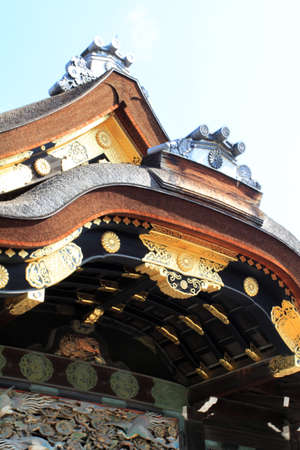 Nijo Castle was built in 1603 as the Kyoto residence of Tokugawa Ieyasu, the first shogun of the Edo Period (1603-1867)  Stock Photo - 13096628