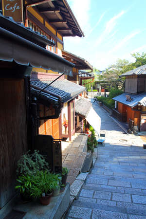 Sannenzaka (three-year slope) and Ninenzaka (two-year slope) are a preservation district in Kyoto, Japan