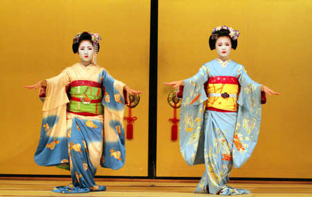 Maiko performing a kyo-mai dance