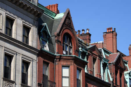 Back Bay and neighboring Beacon Hill are considered Boston's most upscale and desirable neighborhoods Stock Photo - 17698148