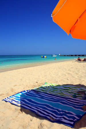 Doctor's Cave Beach Club, Montego Bay (also known as Doctor's Cave Bathing Club) has been one of the most famous beaches in Jamaica for nearly a century. Stock Photo - 17685744