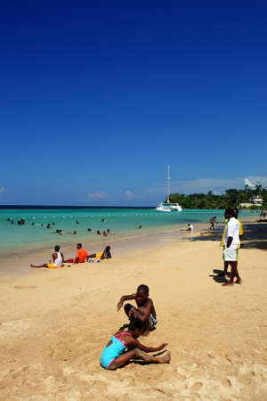 Ocho Ríos is a town on the northern coast of Jamaica, located in the parish of Saint Ann. It is a popular tourist destination, well known for scuba diving and other water sports  Editorial