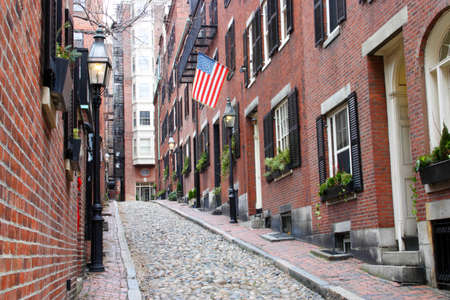 Beacon Hill is a wealthy neighborhood of Federal-style rowhouses, with some of the highest property values in the United States   photo