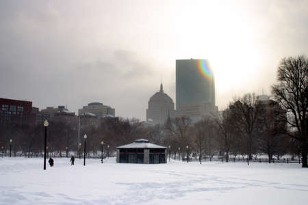 Stock image of a snowing winter at Boston, Massachusetts, USA     photo