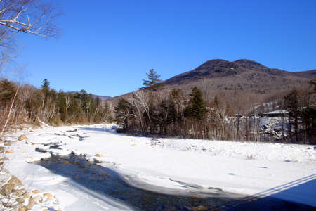 Winter scene in New England, USA   photo